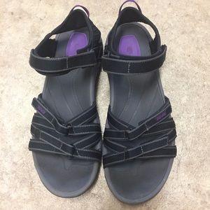 Teva Shoes - Teva Black and Purple Tierra Sport Sandal 9.5